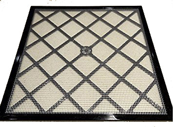 "11"" x 11"" Polyscreen Mesh Tray Screen Replacement Inserts Fits 4 Tray Excalibur Dehydrators, 4 Pack Plastic"