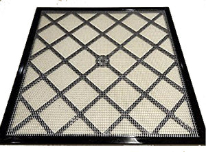 "Excalibur 14"" x 14"" Polyscreen Mesh Tray Screen Inserts for 5 and 9 Tray Excalibur Dehydrators (9 Pack)"