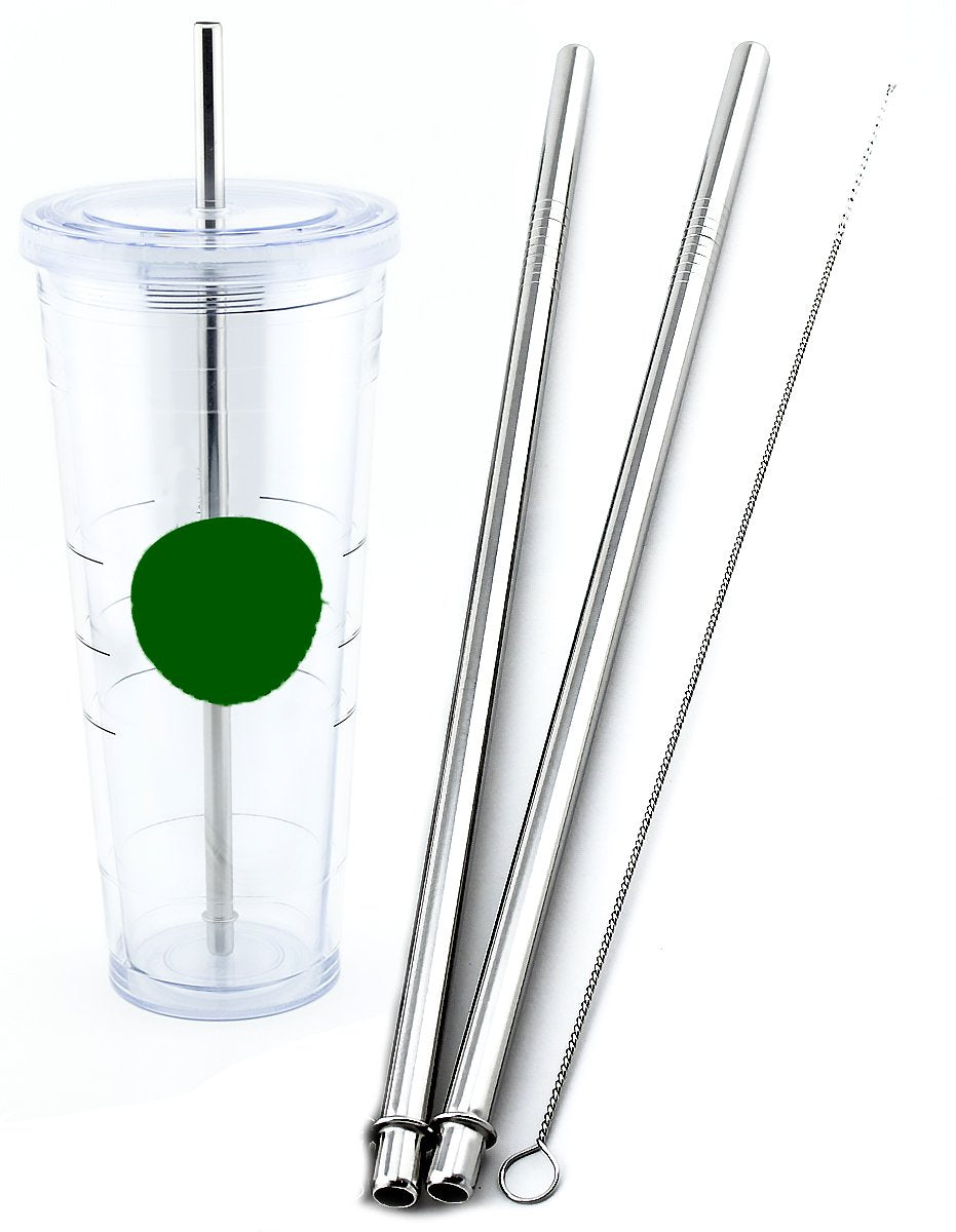 2 Venti Stainless Steel CocoStraw Replacement Straws 2qty For Hot & Cold Travel Mug To-Go Drink Cups