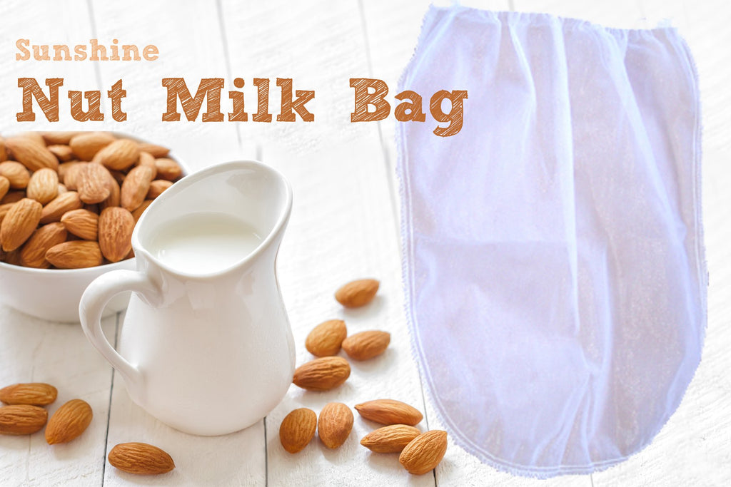 Nut Milk Bag Strainer for Raw Foods, Fine Mesh, 1 Gallon Size - Juicing, Canning, Sprouting and More!