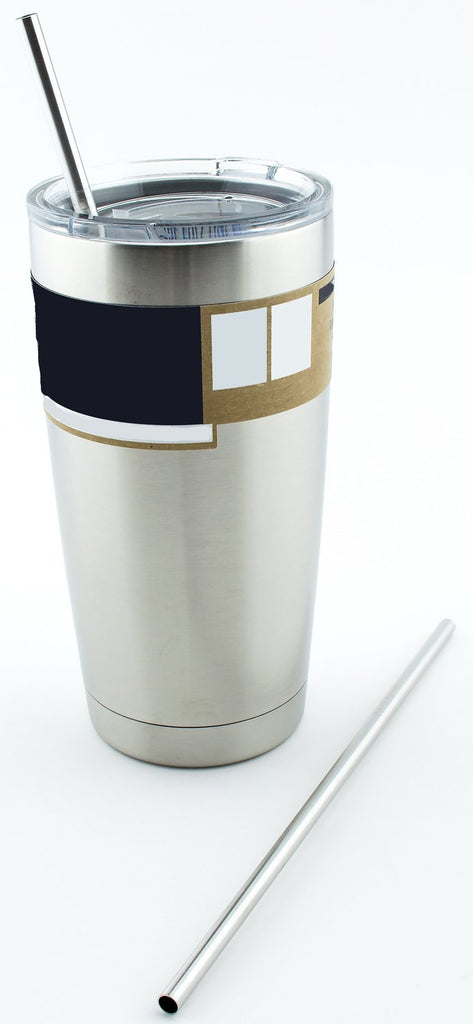 Stainless Steel Drinking Straw fits Yeti RTIC Tumbler Rambler Cups - CocoStraw Brand - for 20 oz
