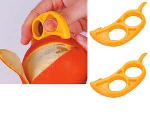 2 pack Citrus Orange Peelers - EZpeel Brand 2 Hole Style