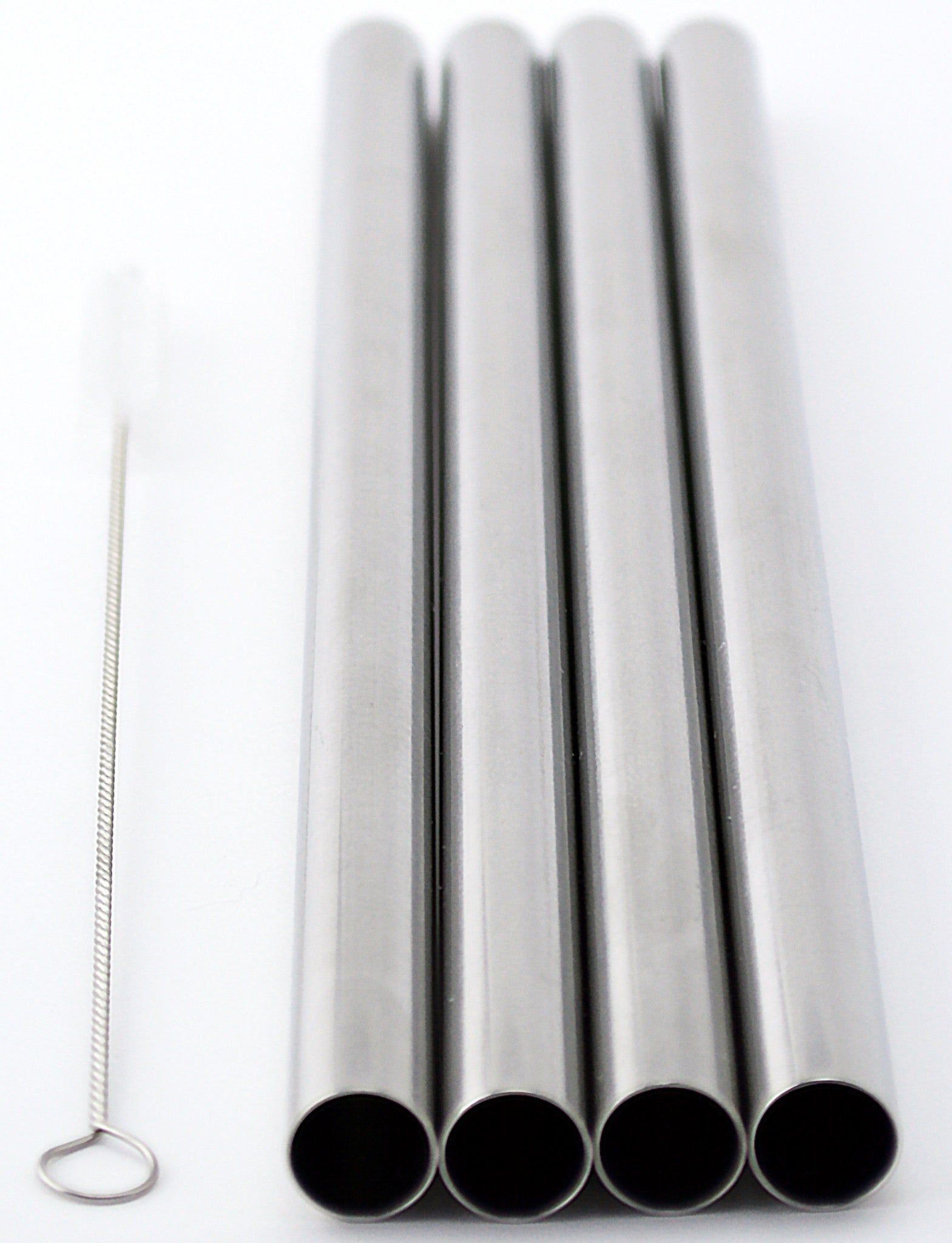 """4 BOBA Bubble Tea Stainless Steel Straws Tapioca Pearl fits  Extra Wide 1//2/"""""""
