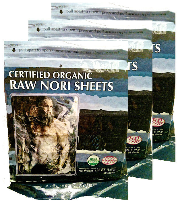 Raw Organic Nori Seaweed Sheets 150 pack
