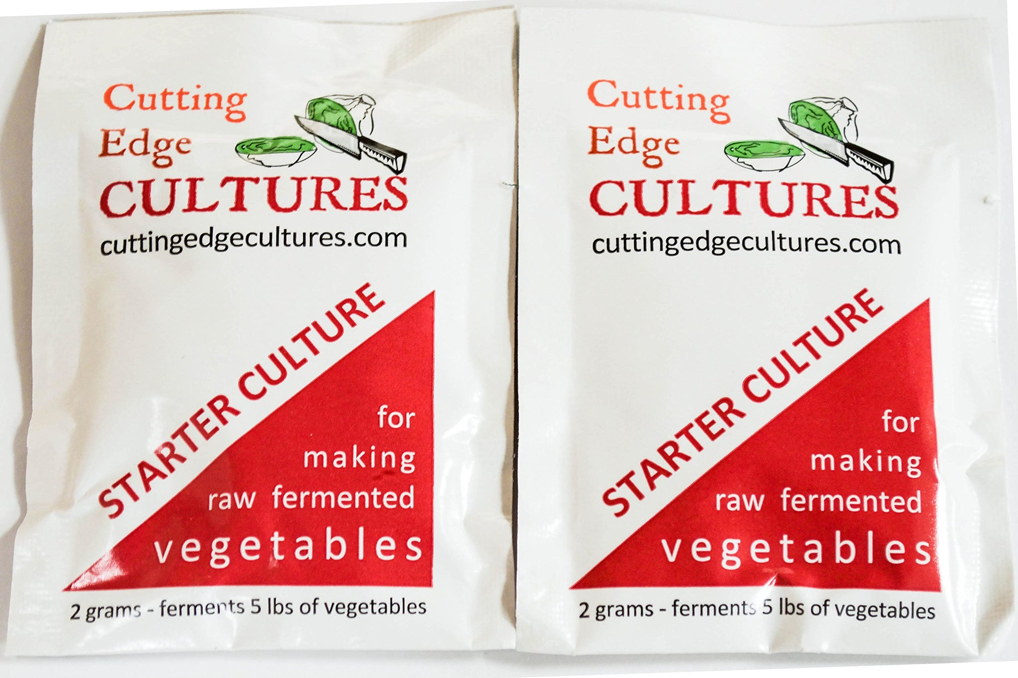 Cutting Edge Cultures Vegetable Starter Culture, 2 Pouches, 4g