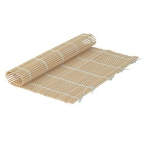 Sushi Roll Bamboo Mat Roller Makisu Sustainable Wood Reusable Sheet Washable