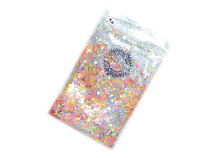 Festival Queen Chunky Glitter Limited Edition NEON SILVER RAINBOW