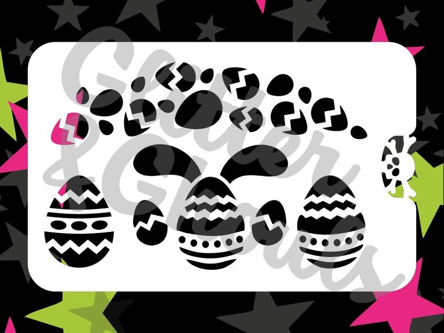 Stencil Glitter & Ghouls EASTER EGGY EARS  (size 14x9cm) 7 mil mylar