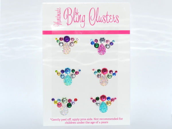 Bling Clusters - Rainbow Centre Piece 9 Pack