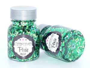 Amerikan Body Art Chunky Glitter Pixie Paint ABSINTHE (Green & Gold)