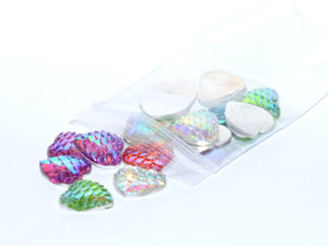 Gem S004 Mermaid Scale Hearts 12mm 20pc