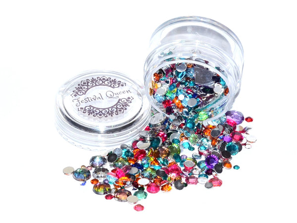 Festival Queen - DIY Festival Bling Gem Jar Rainbow Mixed Sizes