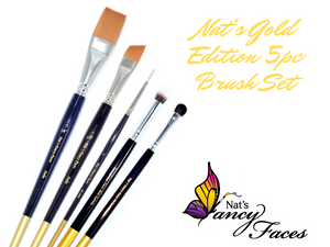 Nat's Gold Edition 5pc Brush Set
