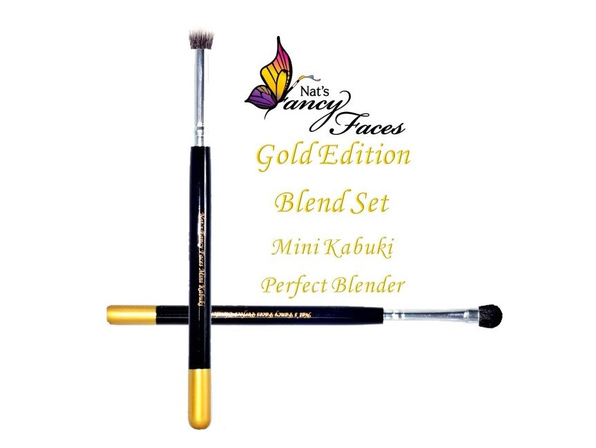 Nat's Gold Edition Brush Mini Kabuki & Perfect Blender Set