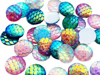Gem R006 Mermaid Scale Rounds 12mm 20pc