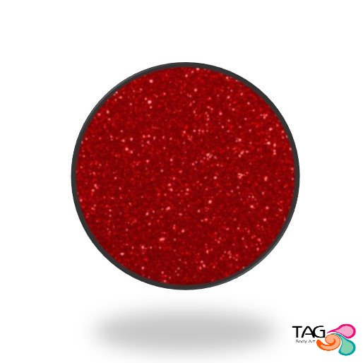Glitter Tag Ruby Red (opaque)