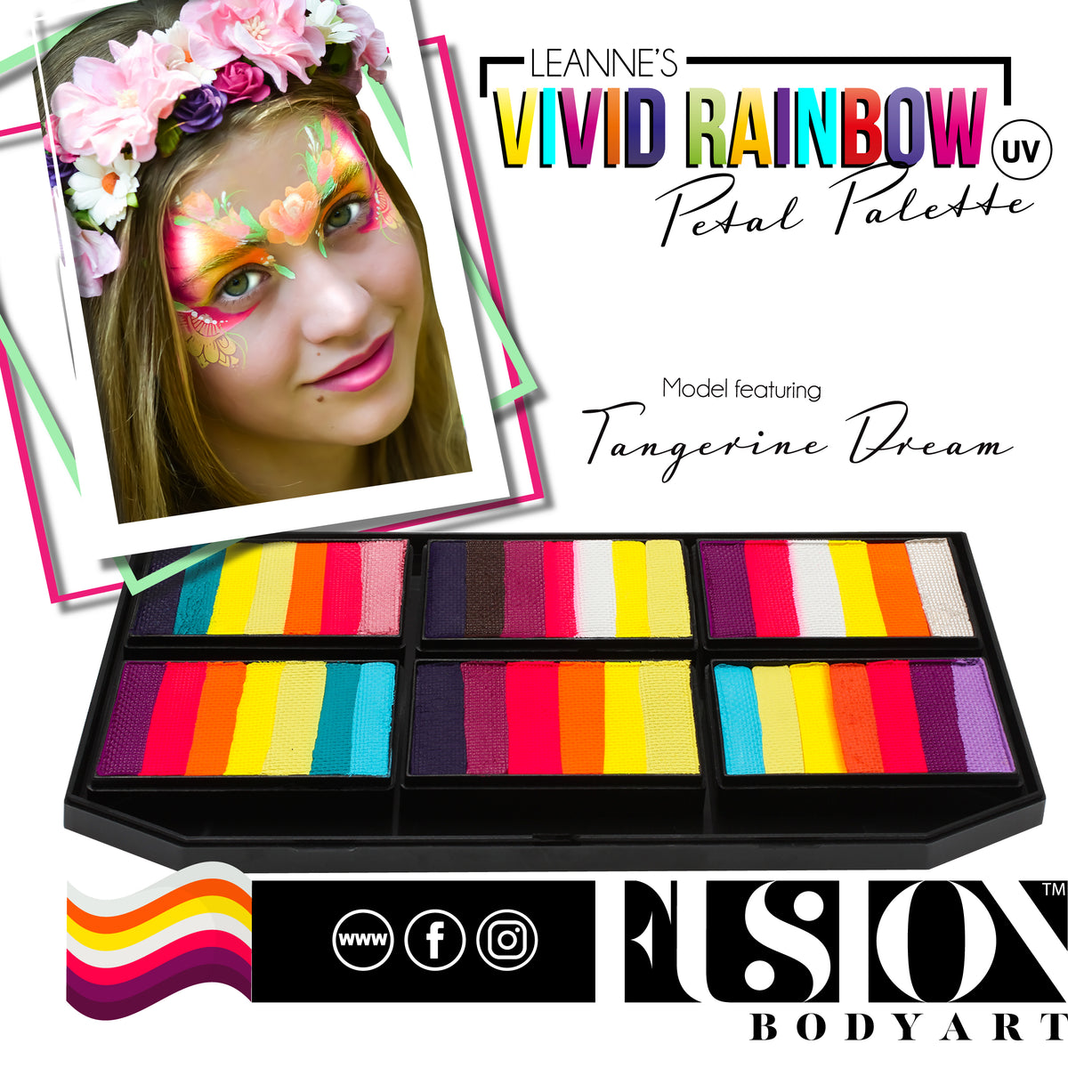 FUSION LEANNE'S COLLECTION - Vivid Rainbow Petal Palette fx