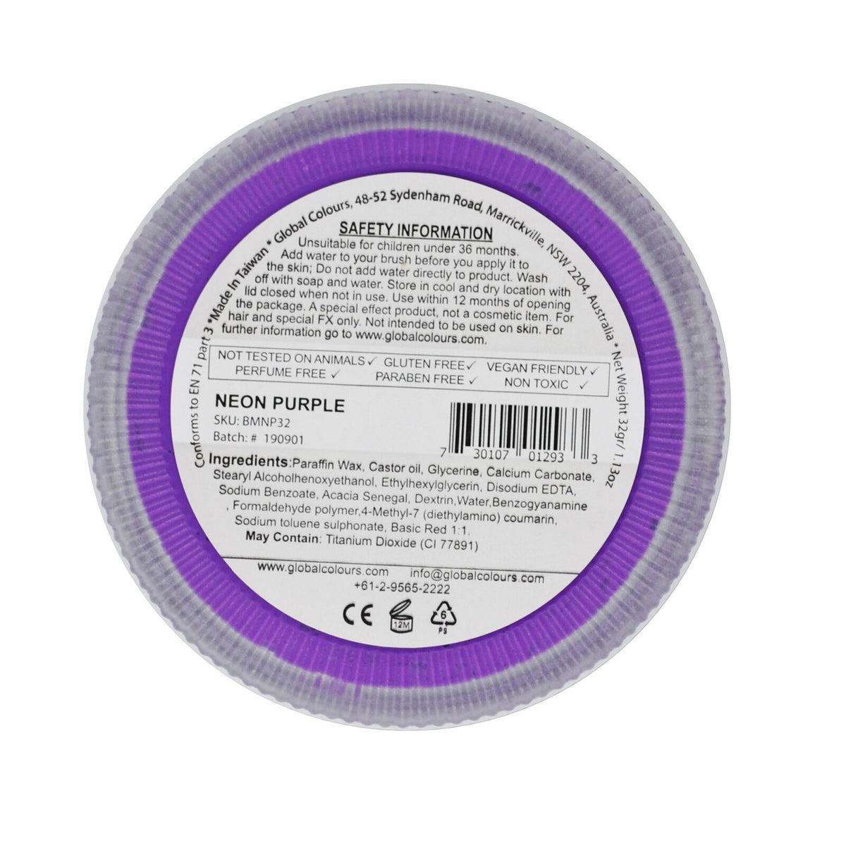GLOBAL COLOURS 32gm Neon Purple