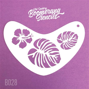 Stencil Boomrang Tropical Flower