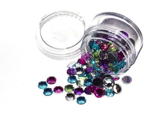 Gem Jar 120pcs Mixed Colours 8mm