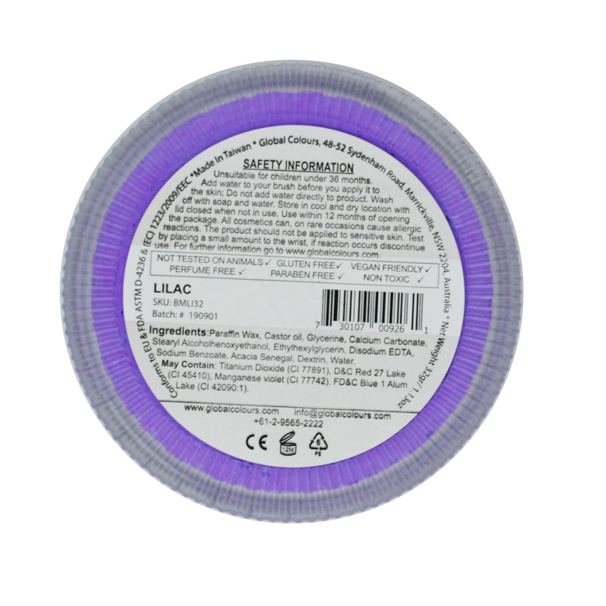 GLOBAL COLOURS 32gm Purple Lilac