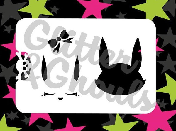 Stencil Glitter & Ghouls EASTER BUNNY (size 9.5x6.5cm)