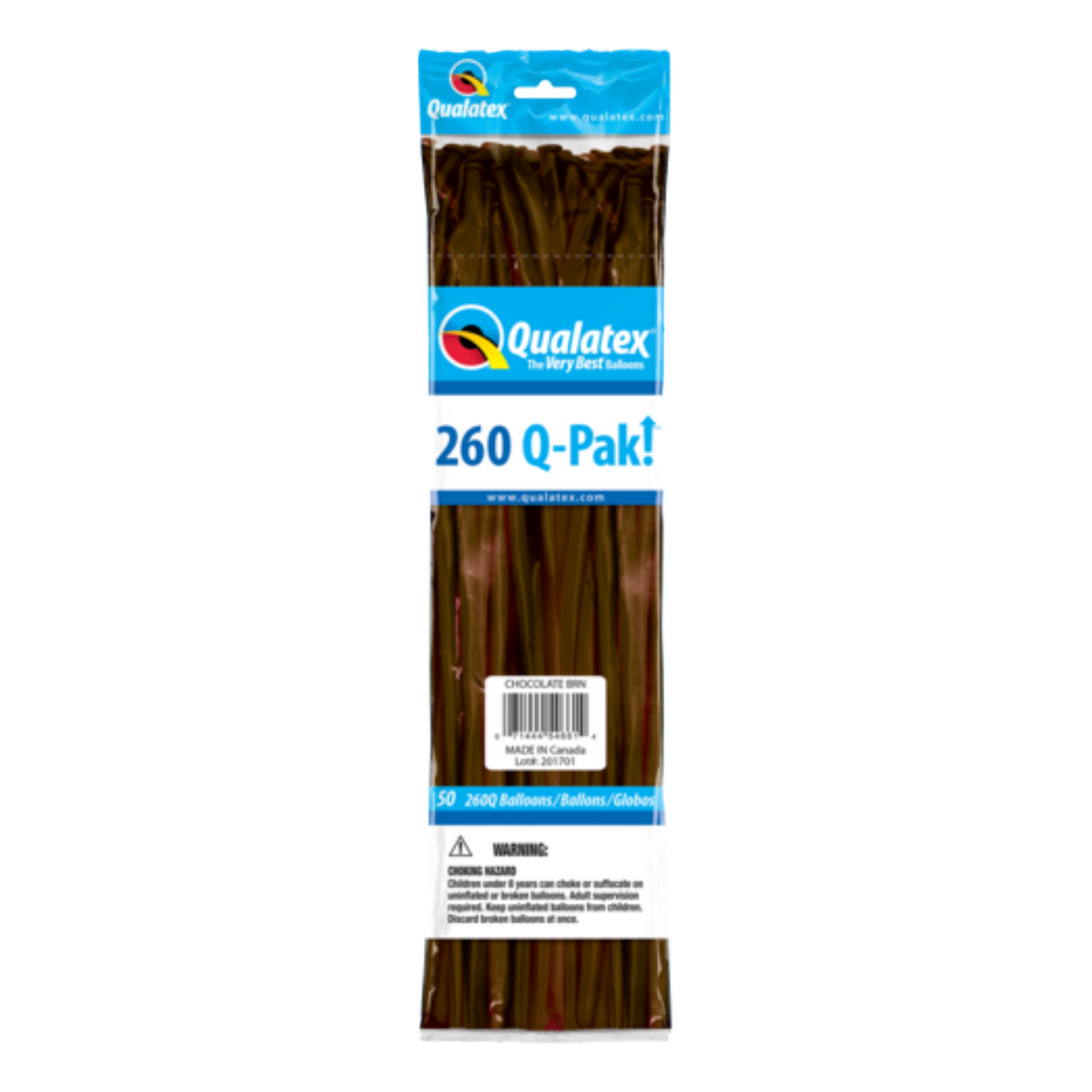 Qualatex 260 Q-Pak (50 pack) BROWN CHOCOLATE