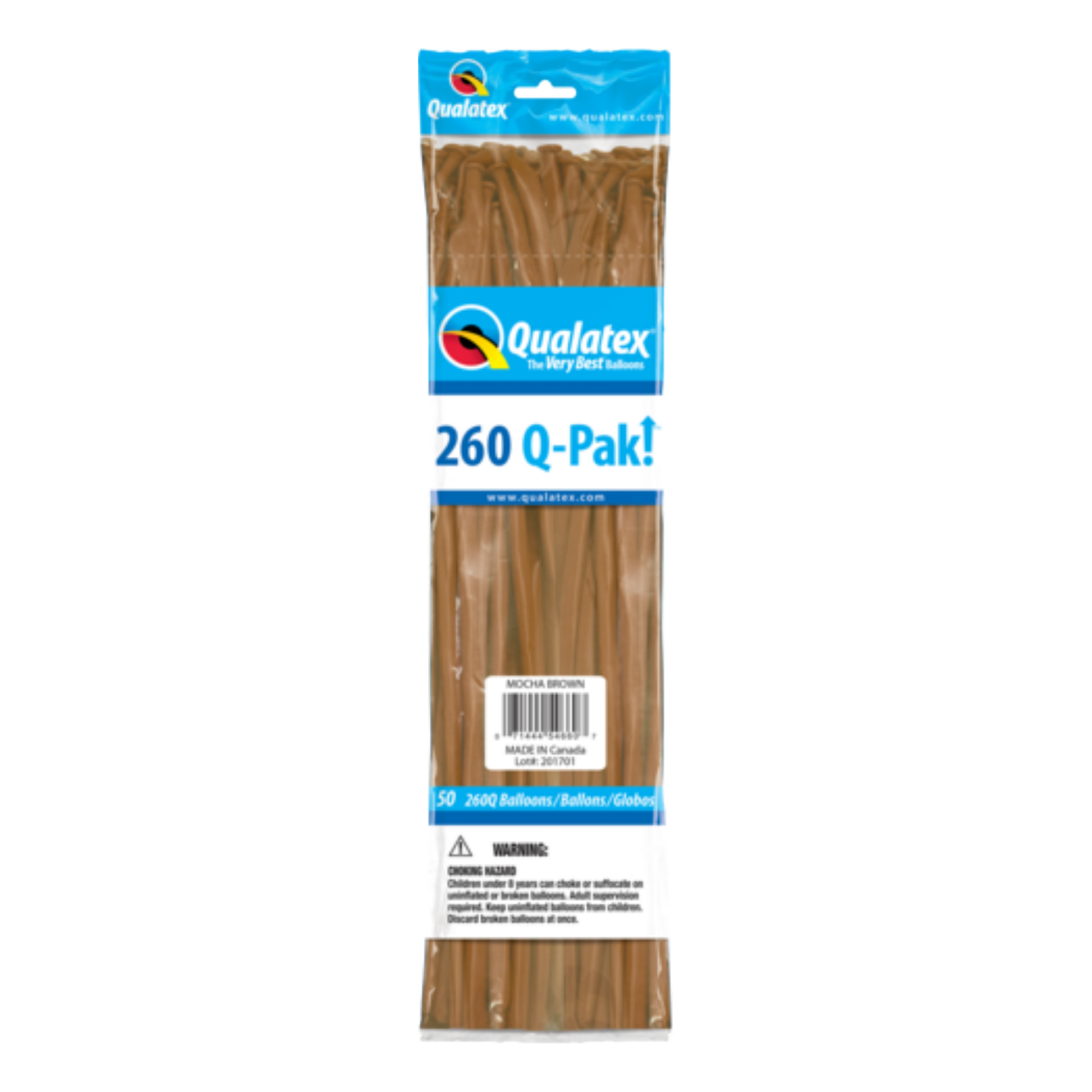 Qualatex 260 Q-Pak (50 pack) BROWN MOCHA