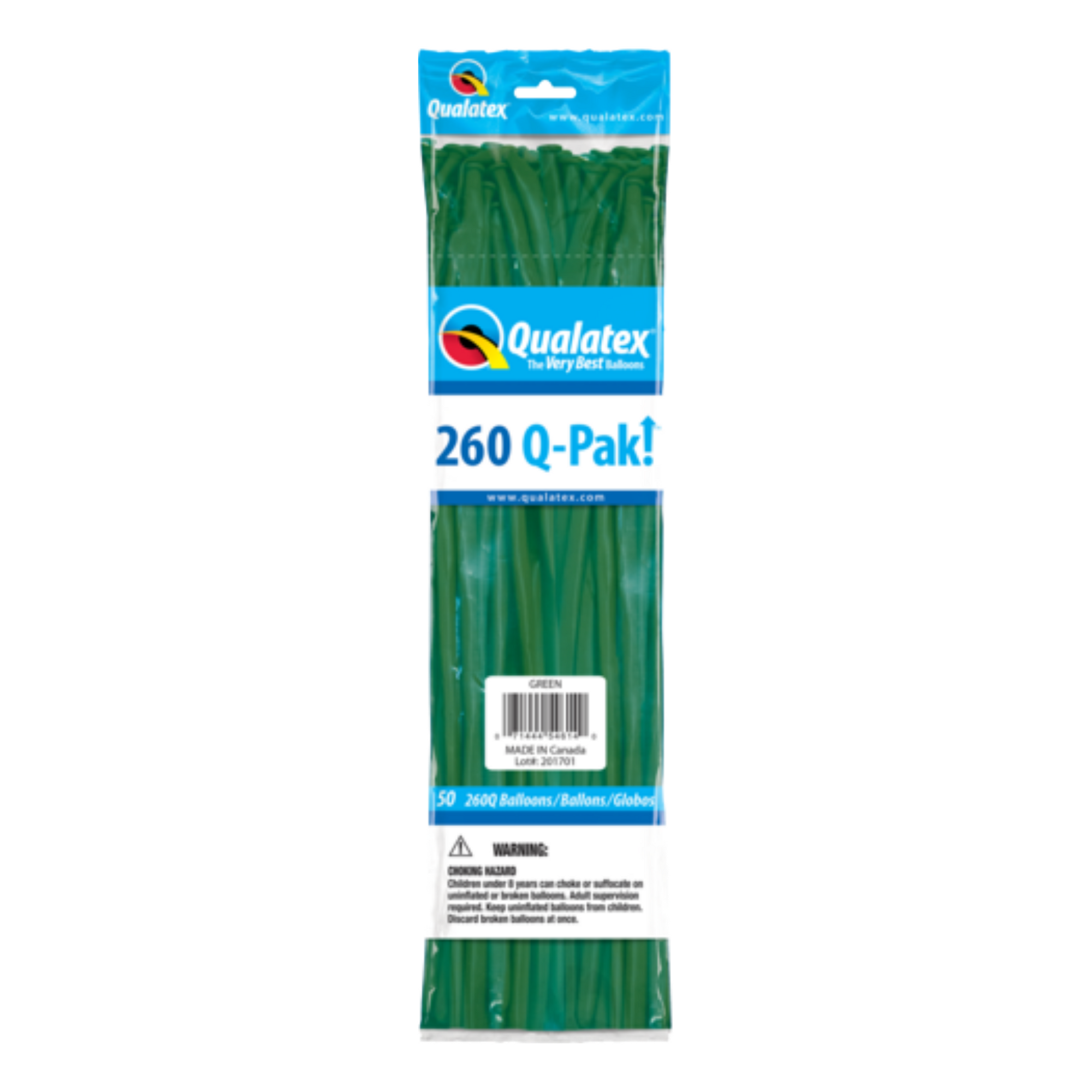 Qualatex 260 Q-Pak (50 pack) GREEN