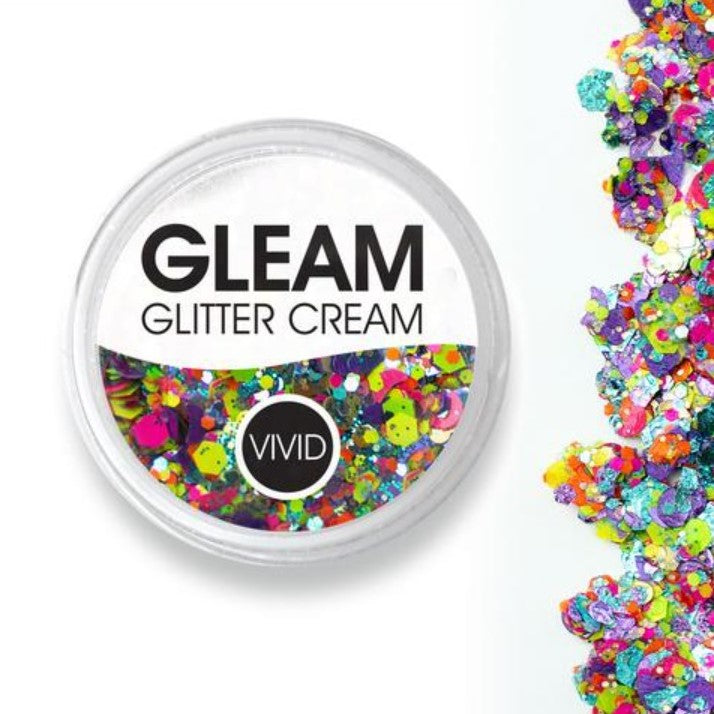 VIVID Gleam Chunky Glitter Cream - ALOHA 10gm jar