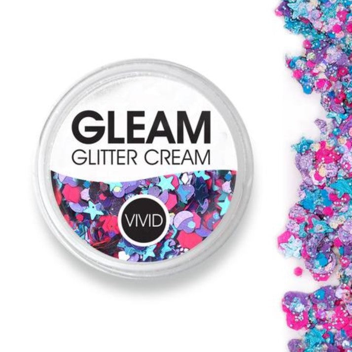 VIVID Gleam Chunky Glitter Cream - BLAZIN' UNICORN 10gm jar