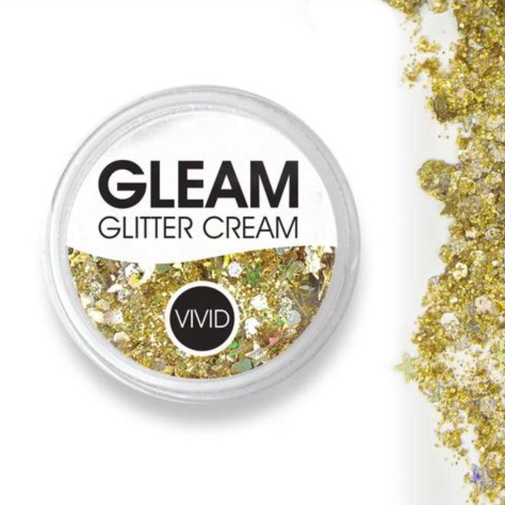 VIVID Gleam Chunky Glitter Cream - GOLD DUST 10gm jar