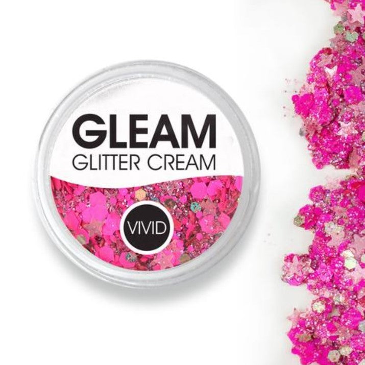 VIVID Gleam Chunky Glitter Cream - WATERMELON 10gm jar