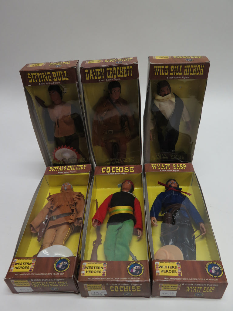 Classic TV Toys Figures Toy Co Mego Style Worlds Greatest Western Heroes Complete Set