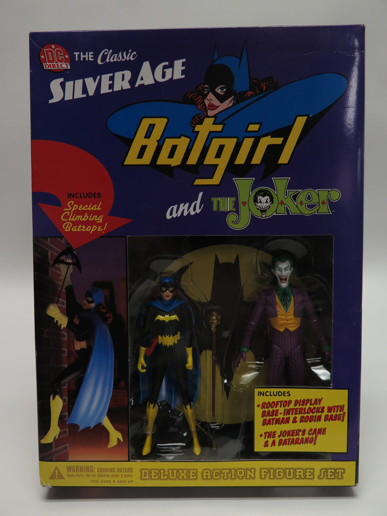 2003 DC Comics Direct Batman Silver Age Batgirl & The Joker Deluxe Set Sealed