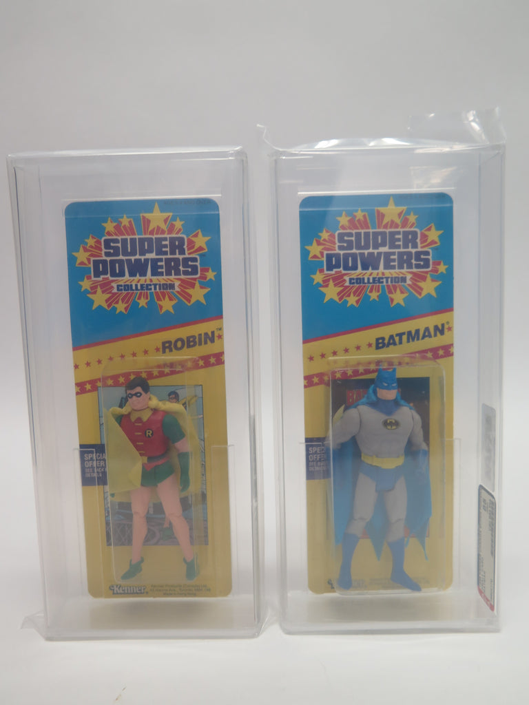 1985 Kenner DC Comics Super Powers Batman & Robin (Short Cards) AFA 85