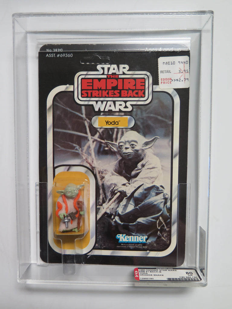 1980 Kenner Star Wars Yoda (orange snake) AFA 80
