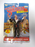 1985 LJN WWF Wrestling Superstars Mean Gene Okerlund (Unused Figure With Bubble Lift)