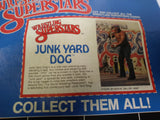 1985 LJN WWF Wrestling Superstars The Junkyard Dog Red Chain Variant (Unused Figure With Bubble Lift)