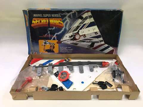 1984 Mattel Marvel Comics Super Heroes SECRET WARS Star Dart with Black Spider-Man In Box