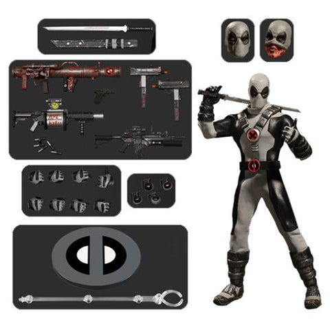 Mezco One:12 Collective X-Force Deadpool Greypool 6 Inch Scale