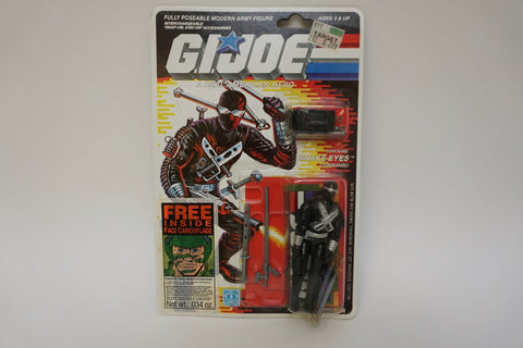 1986 Vintage GI Joe Snake Eyes v3 MOC Sealed New