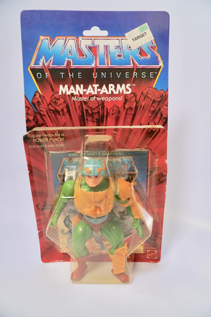 1985 Mattel He-Man & The Masters of the Universe 8 Back Man At Arms Bubble Lifting