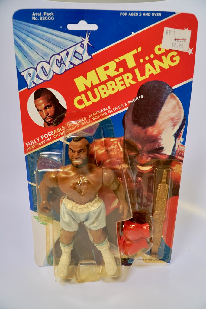 "1983 Phoenix Toys Vintage ""Rocky"" Clubber Lang Mr. T Movie Figure MOC SEALED Unopened"
