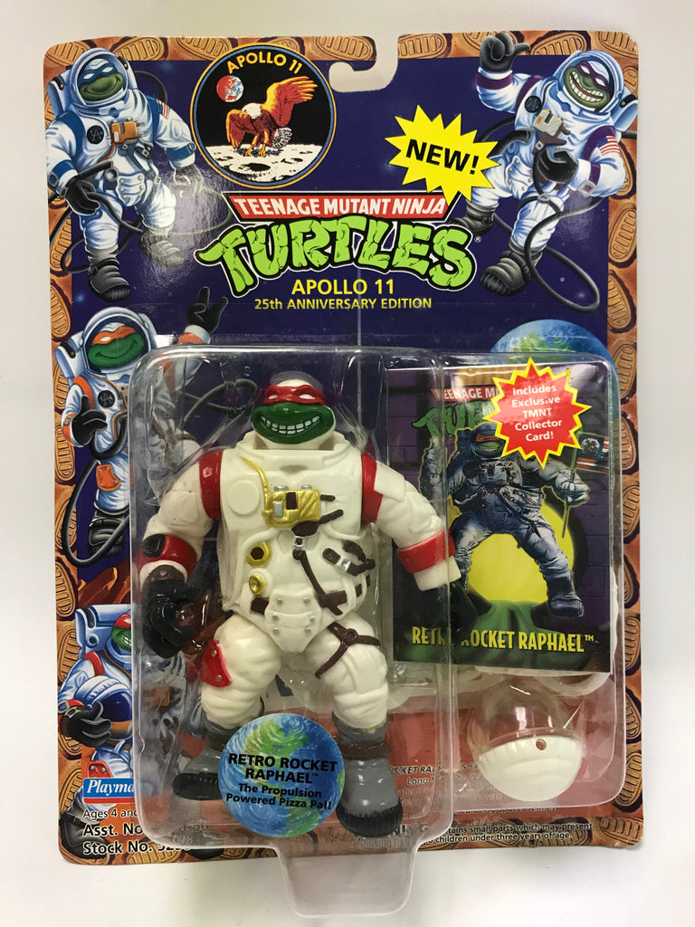 Vintage Playmates TMNT Ninja Turtles Apollo 11 Astronaut Retro Rocket Raphael MOC