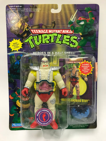 Vintage Playmates TMNT Ninja Turtles Krang's Android Body w/ Collector Card MOC SEALED