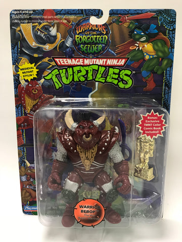 Vintage Playmates Teenage Mutant Ninja Turtles TMNT Warriors of the Forgotten Sewer Warrior Bebop MOC SEALED