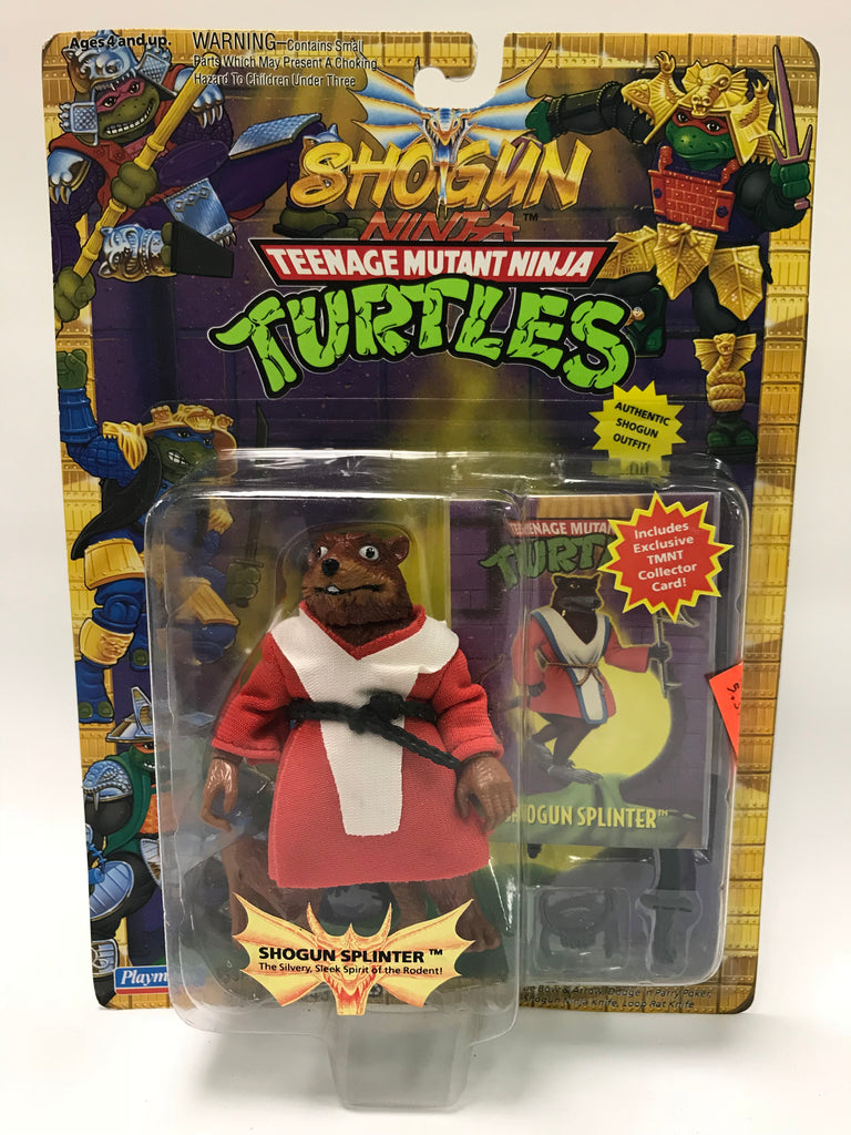 Vintage Playmates Teenage Mutant Ninja Turtles TMNT Shogun Master Splinter w/ Card MOC SEALED