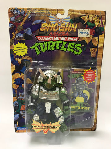 Vintage Playmates Teenage Mutant Ninja Turtles TMNT Shogun Triceraton w/ Card MOC SEALED (RARE Purple Weapons)