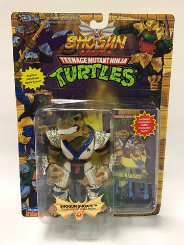 Vintage Playmates Teenage Mutant Ninja Turtles TMNT Shogun Shoate w/ Card MOC SEALED